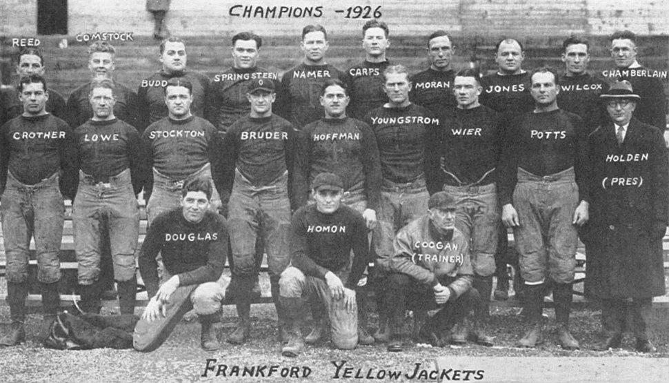 Frankford yellow jackets football 1926