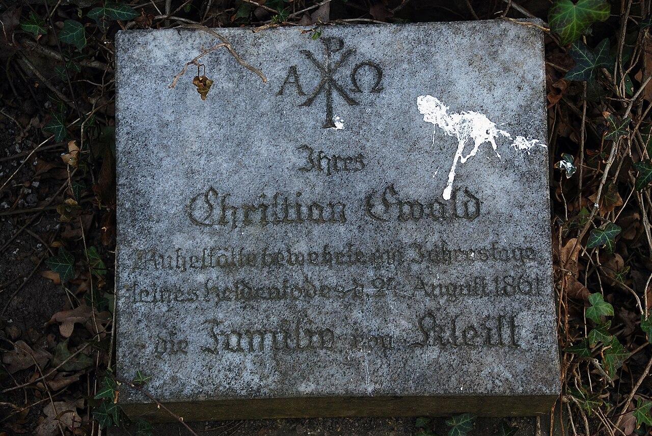 file frankfurt oder st gertraud park grabdenkmal ewald christian von kleist