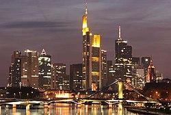 Frankfurt am Main Németország pénzügyi központja.
