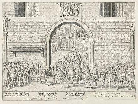 Aanbieding Van Het Smeekschrift Der Edelen, Door Frans Hogenberg.