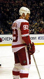 Photo de profil de Franzén portant le numéro 93 des Red Wings.