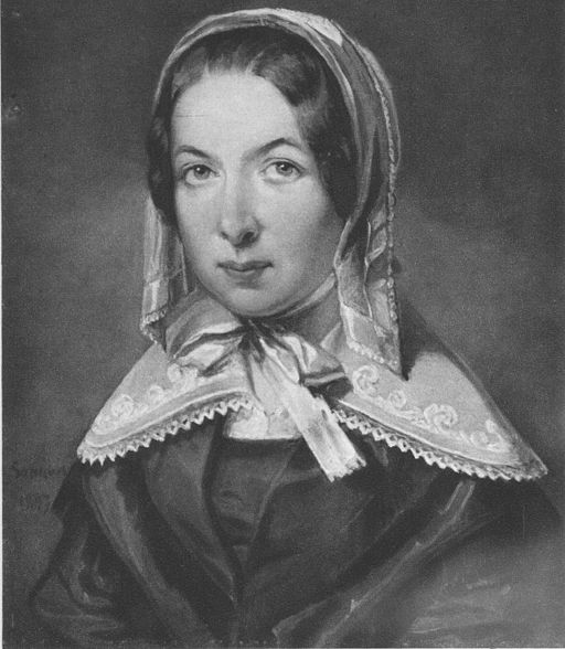 Fredrika Bremer painted by Sandberg 1843
