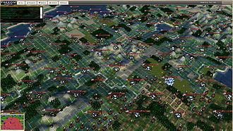 Isometric video game graphics - Image: Freeciv webgl 3d screenshot