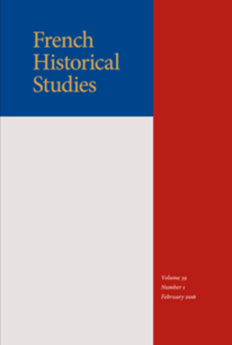 French Historical Studies - Image: French Historical Studies