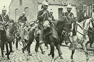 French cavalry & German cavalry prisoners