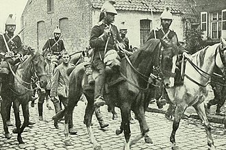 Dragoon helmet - French dragoons at war in traditional helmets, 1914