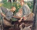 Fritz von Uhde - Die Töchter des Künstlers im Garten (1897).jpg
