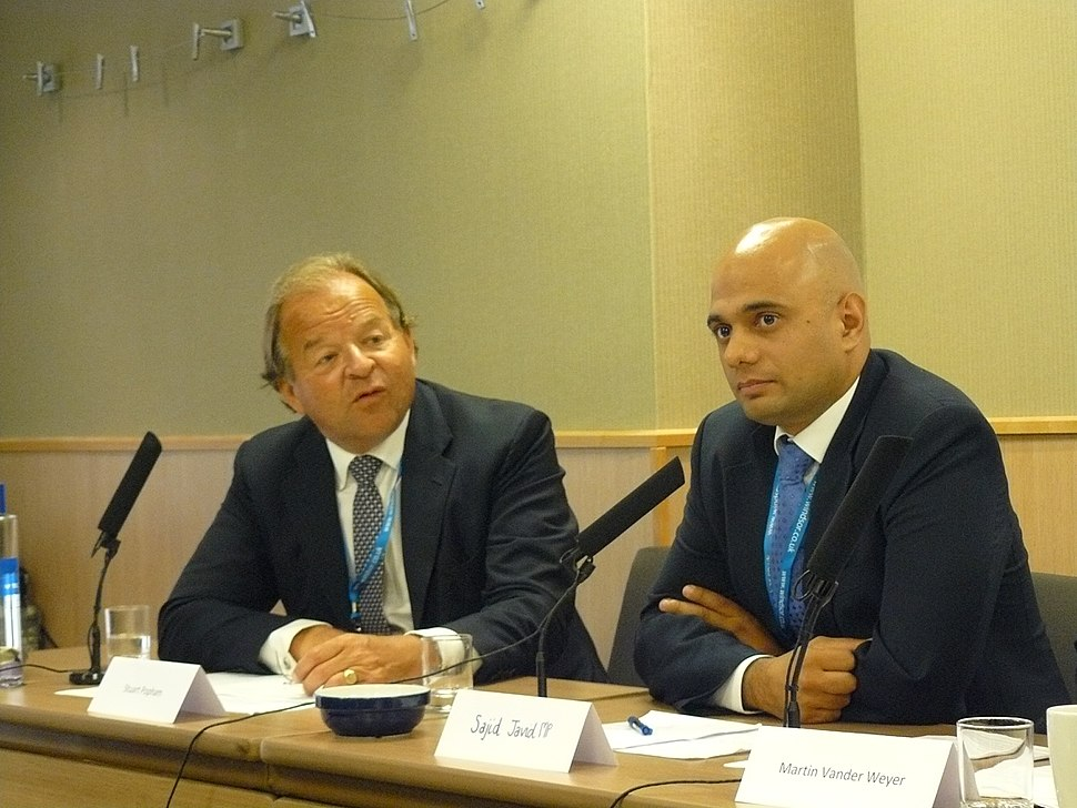 From left to right Stuart Popham and Sajid Javid MP