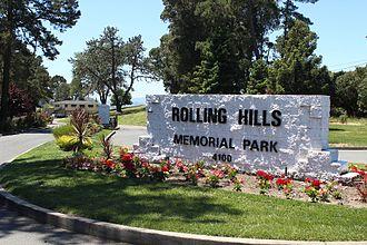 Rolling Hills Memorial Park - Front sign of Rolling Hills Memorial Park, in Richmond California