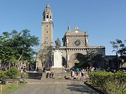 Front view of The Cathedral in Intramuros, Manila.jpg