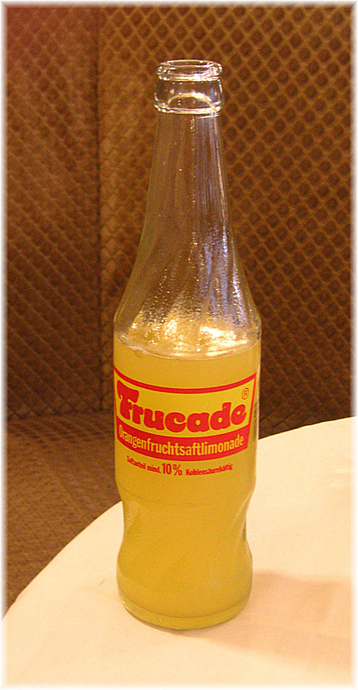 Frucade glass bottle