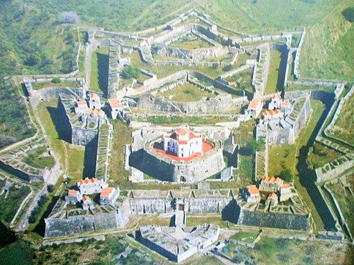 Vogelperspektive auf Fort von Santa Luiza (Elvas, Portugal) Fuerte de Nuestra Señora de Gracia, en Elvas