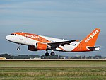 G-EZFY easyJet Airbus A319-111 cn4418 takeoff from Schiphol (AMS - EHAM), The Netherlands pic2.JPG