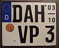 GERMANY, DACHAU motorcycle license plate seasonal - Flickr - woody1778a.jpg