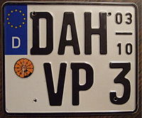 Find License Plate Number By Name >> Vehicle Registration Plates Of Germany Wikipedia