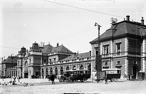 Cluj-Napoca train station - Early view of the station.