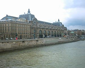 Gare d'Orsay - Gare d'Orsay site seen from the Louvre in March 2006.