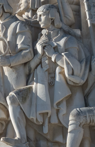 Gaspar Corte-Real - Statue of Gaspar Corte-Real in the Monument of the Discoveries, in Lisbon, Portugal.