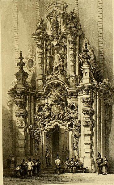 File:Gate of the Hospicio Madrid, 1838.jpg