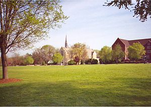 Grove City College - Grove City's central quad in the spring