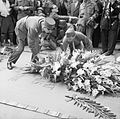 General Charles de Gaulle laying a wreath at the Tomb of the Unknown Warrior at the Arc de Triomphe in Paris, 26 August 1944. BU93.jpg