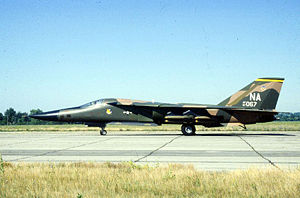 "428th Fighter Squadron - General Dynamics F-111A (S/N 67-067) on display at the ""National Museum of the USAF"" at Wright-Patterson Air Force Base, Ohio (USA). The F-111A is painted with the markings of the 428th Tactical Fighter Squadron, 474th Tactical Fighter Wing."