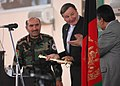 General Mohammad Amayoon Raizee, Deputy of Ministry of Defense, presents a sword (4724615188).jpg