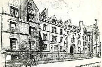 General Theological Seminary - The 9th Avenue entrance to the seminary in 1890