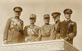 "Alphonse Jacques de Dixmude - Generals of WWI: Jules Jacques de Dixmude, Armando Diaz, Ferdinand Foch, John Joseph ""Black Jack"" Pershing, David Beatty."