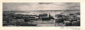 General view of harbor at San Juan%2C Porto Rico looking South