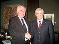Generalsekreteraren for Nordiska ministerradet Halldor Asgrimsson och Kanadas utrikesminister Lawrence Cannon vid ett mote i Ottawa.jpg
