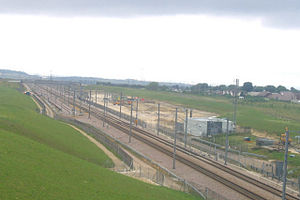 Singlewell Infrastructure Maintenance Depot - Depot buildings during construction in 2006