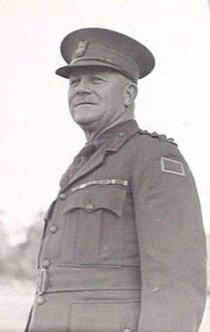 George Furner Langley - Brigadier George Langley, commander of the 2nd Infantry Brigade, in July 1943