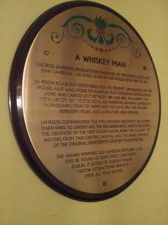 Dublin Writers Museum - Image: George Jameson Historical Marker