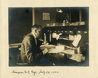 George Walter McCoy - McCoy in 1922