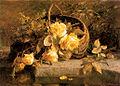 Gerardine van de Sande Bakhuyzen - Still life of flowers in a basket by water's edge.jpg