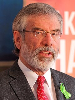 Irish Republican politician, leader of Sinn Fein 1983–2018