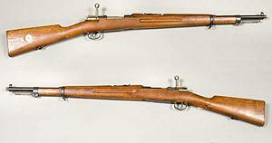 Swedish Mauser - 6,5 mm Gevär m/1938. Shortened rifle m/1896, rebuilt in 1938-1940.