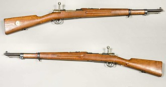 Swedish Mauser - 6,5 mm Gevär m/1938. Shortened rifle m/1896, rebuilt in 1938-1940.