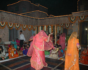 Ghoomar - Women performing ghoomar at wedding