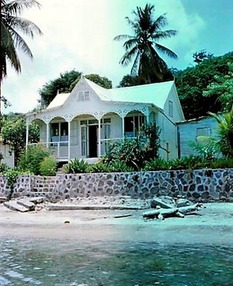 Bequia - Gingerbread House. Bequia. 1967