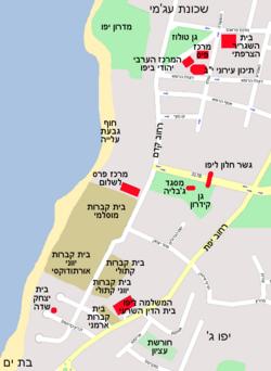 מפת שכונת גבעת עלייה