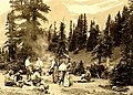 Glacier National Park. Lunch time on Piegan Pass. (Group includes T.J. Hileman, photographer, during a filming expedition for (46c8e14305904cae835faee0d370bb02).jpg