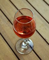 Glass of rosé wine Margate Kent England.jpg