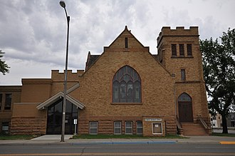 National Register of Historic Places listings in Dawson County, Montana - Image: Glendive MT United Methodist Church