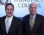 Glenn Hamer, Jenny Poon, Doug Ducey, Jeff Immelt & John McCain (26051252660) (cropped).jpg