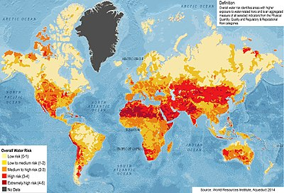 World Map Water.Water Security Wikipedia