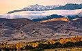 Gold Cottonwoods, Dunes, and Fresh Snow on Cleveland Peak (50376036826).jpg