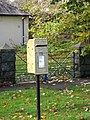 Gold Post Box in the estate village of Seaforde - geograph.org.uk - 3212027.jpg