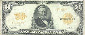 Representative money - U.S. $50 gold certificate